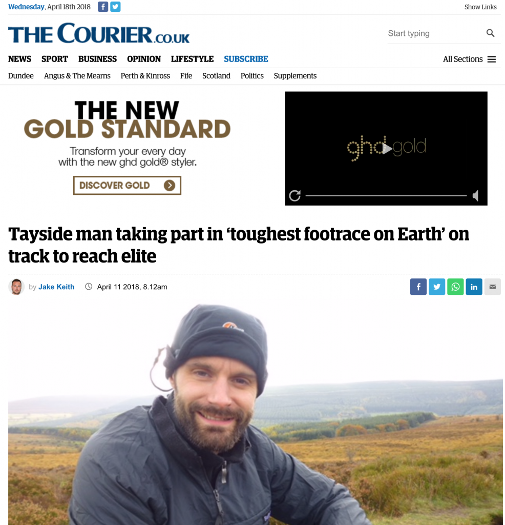The Courier weeventure media coverage marathon des sables